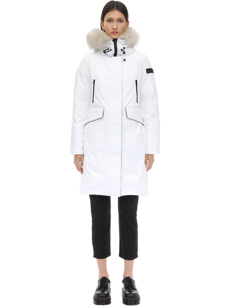 PEUTEREY Nascha Nylon Down Jacket W/ Fur in white