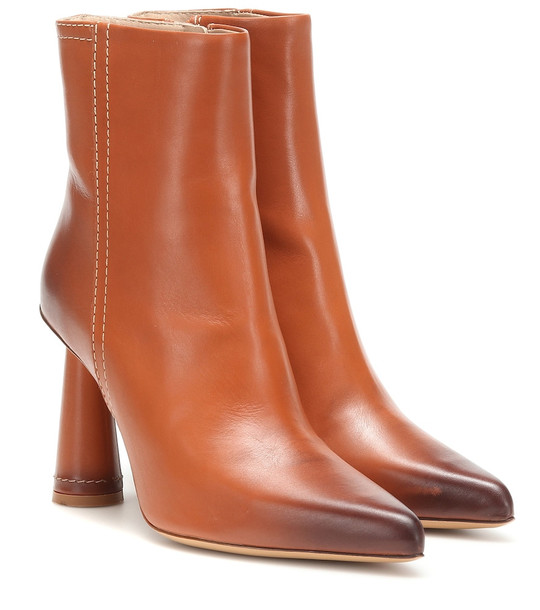 Jacquemus Les Bottes Toula leather ankle boots in brown