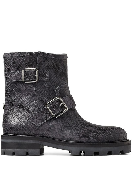 Jimmy Choo Youth II buckled ankle boots in grey