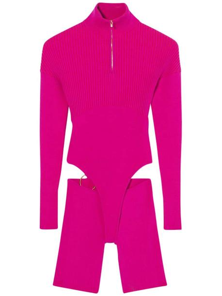 JACQUEMUS Le Body Bormio Viscose Blend Jumpsuit in fuchsia