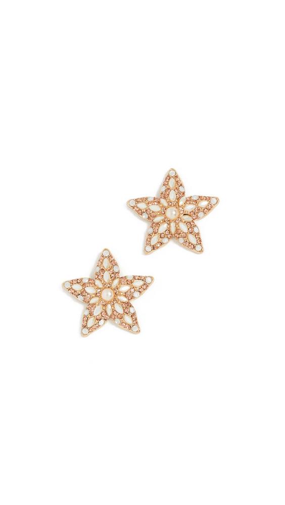 BaubleBar Petrina Starfish Stud Earrings in gold