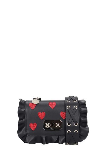 RED Valentino Shoulder Bag In Black Leather