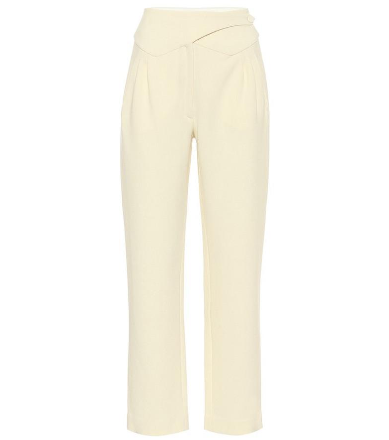 Blazé Milano Resolute Basque high-rise wool pants in white