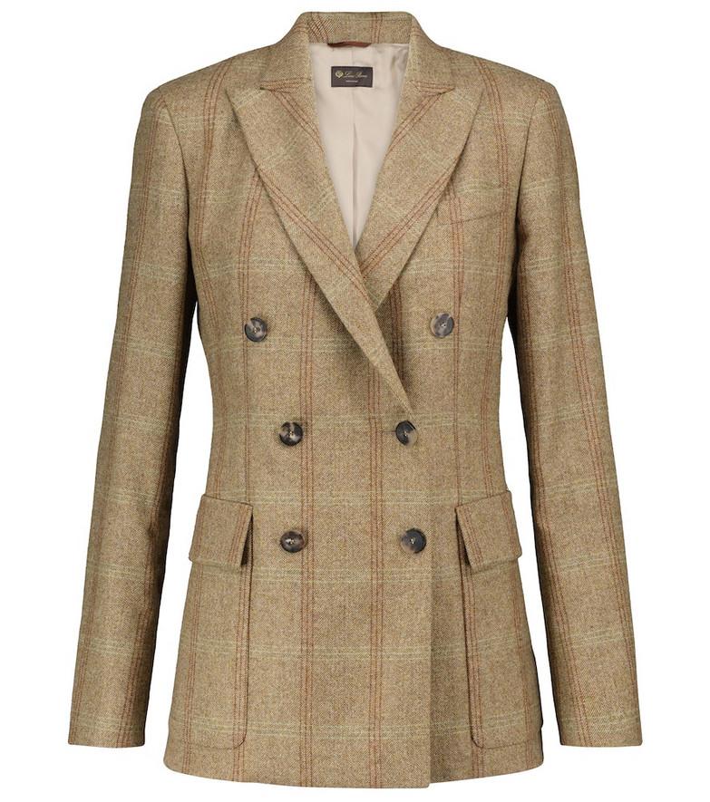 Loro Piana Costanze cashmere-blend blazer in green