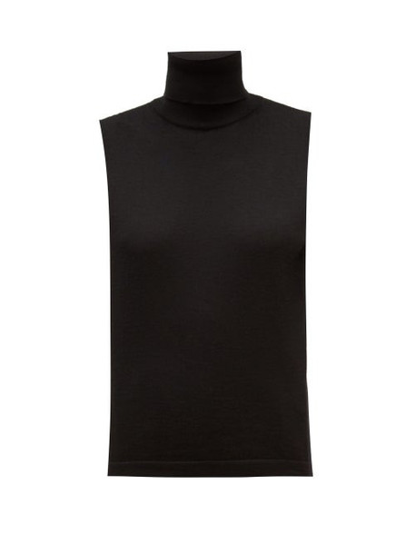 The Row - Becca Roll-neck Sleeveless Cashmere Sweater - Womens - Black