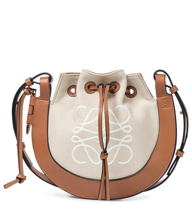 Loewe Horseshoe Small Anagram shoulder bag in brown
