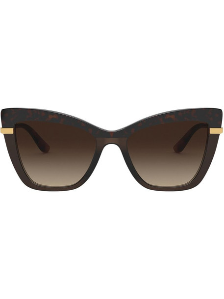 Dolce & Gabbana Eyewear cat-eye frame sunglasses in brown