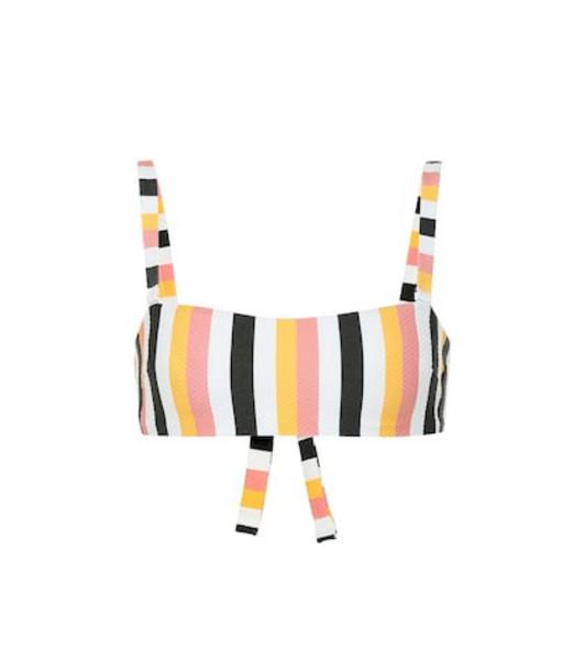 Asceno Wrap Bandeau striped bikini top