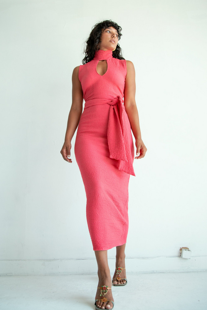 The Line by K QUINCY DRESS HOT PINK