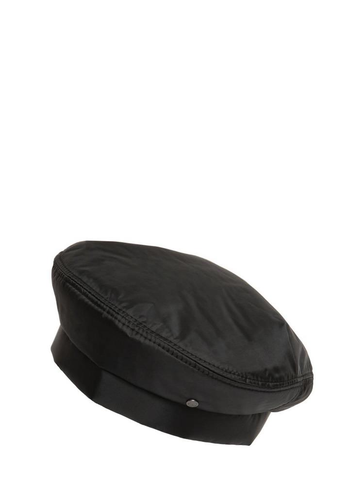 MAISON MICHEL Nolan Bomber Nylon Hat in black