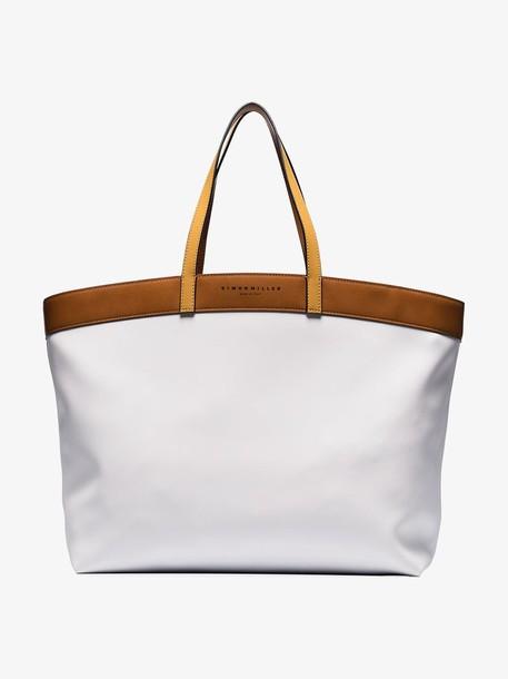 Simon Miller two tone tote bag in white