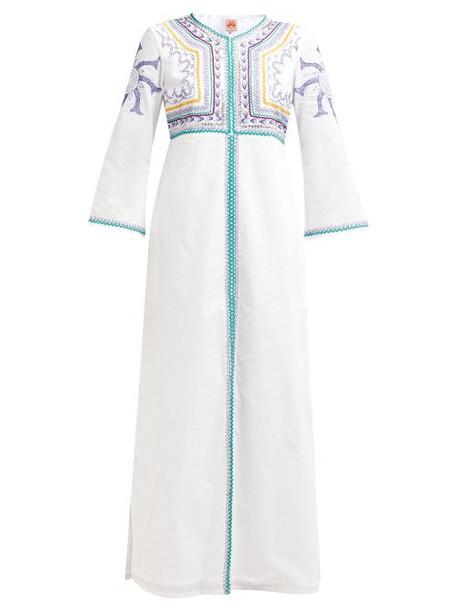 Le Sirenuse, Positano - Vanessa Embroidered Cotton Maxi Dress - Womens - White Multi