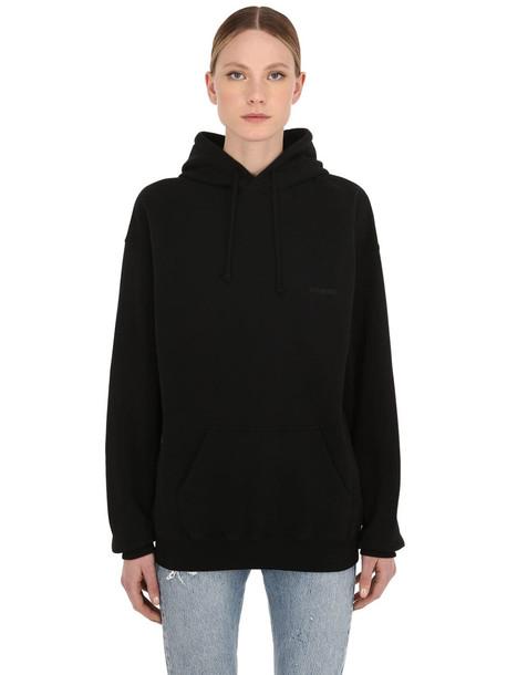 VETEMENTS Oversize Cotton Sweatshirt Hoodie in black