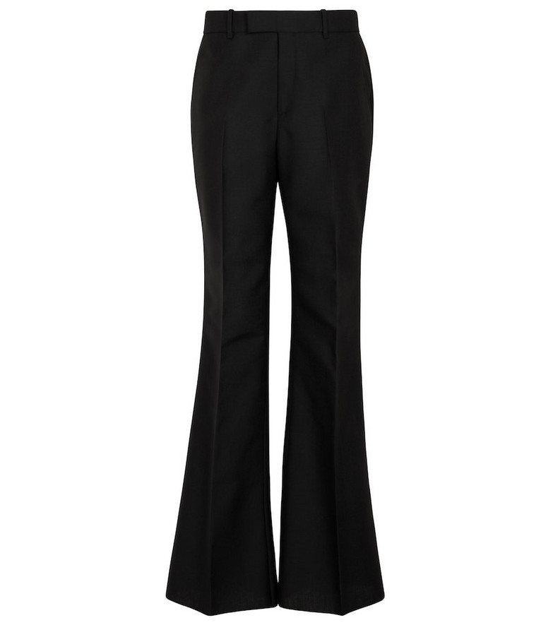 Gucci Wool and mohair flared pants in black