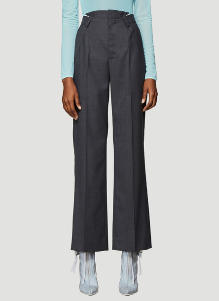 Maison Margiela Flannel Suiting Pants in Grey size IT - 40