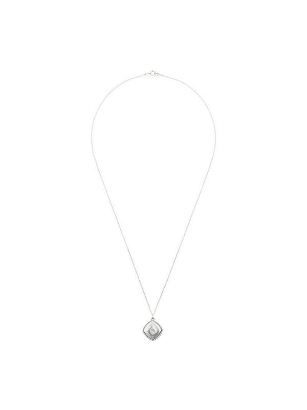 Sasha Samuel Isabela sterling silver locket necklace in metallic