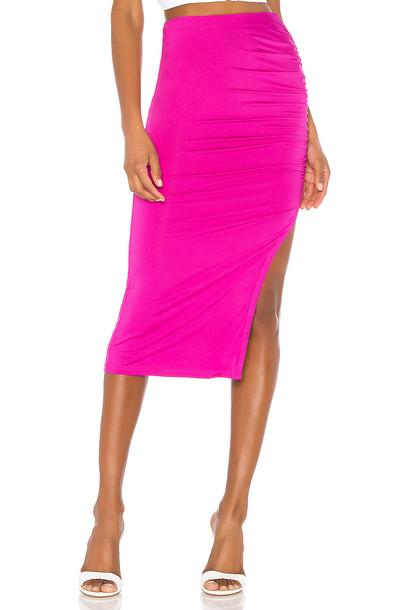 superdown Tiffani Ruched Midi Skirt in pink