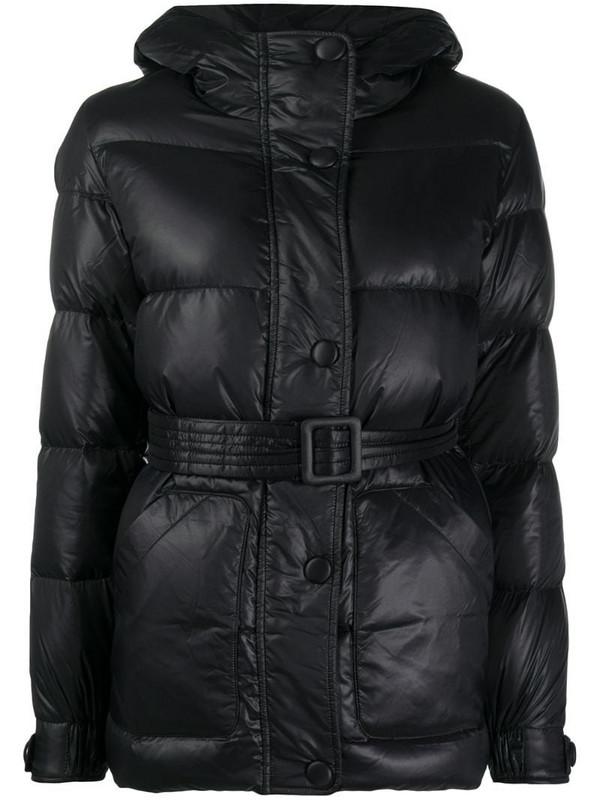 Armani Exchange hooded puffer jacket in black