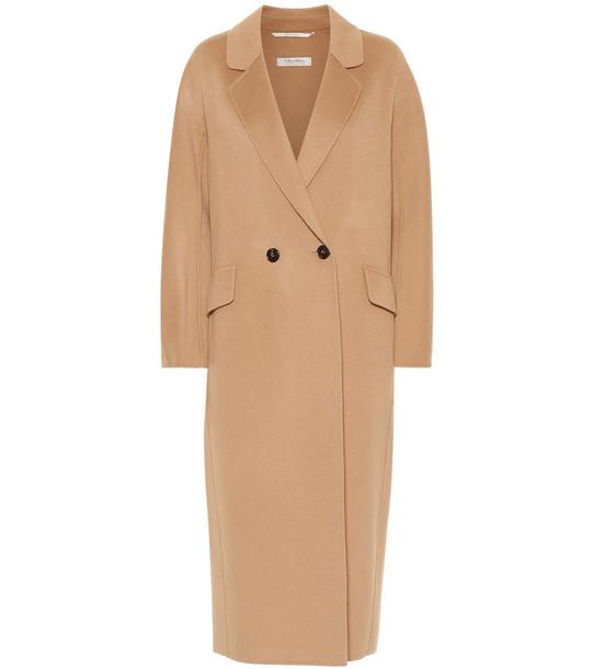 S Max Mara Cardi double-face wool coat in beige