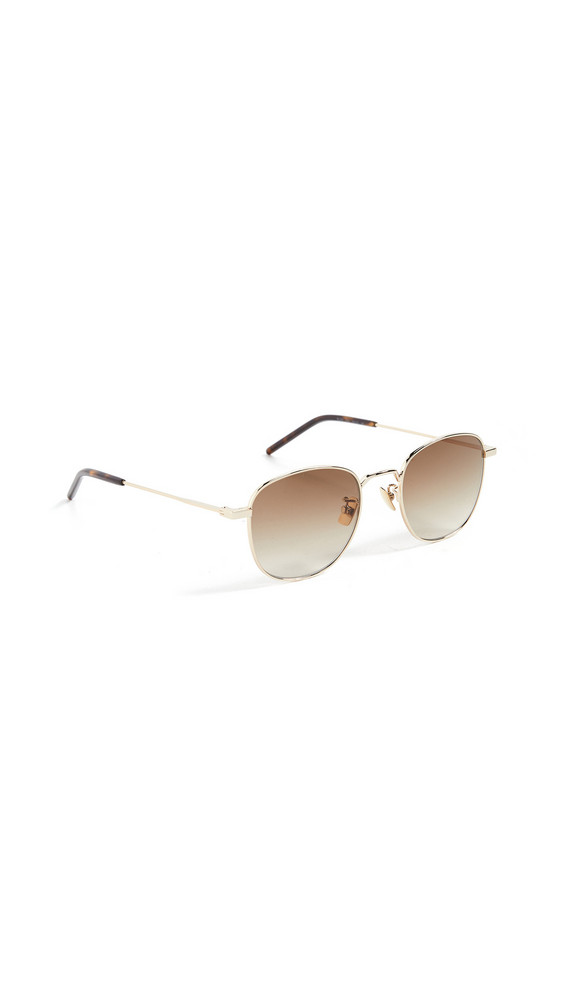 Saint Laurent SL 299 Metal Sunglasses in brown / gold