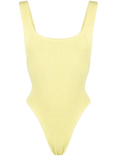 Reina Olga Ruby Scrunch swimsuit in yellow