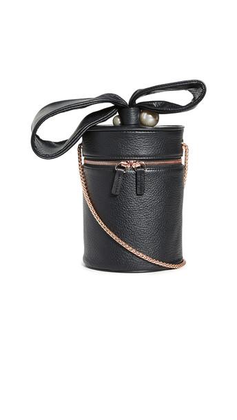 Sophia Webster Bonnie Imitation Pearl Crossbody Bag in black
