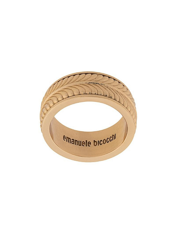 Emanuele Bicocchi engraved band ring in gold
