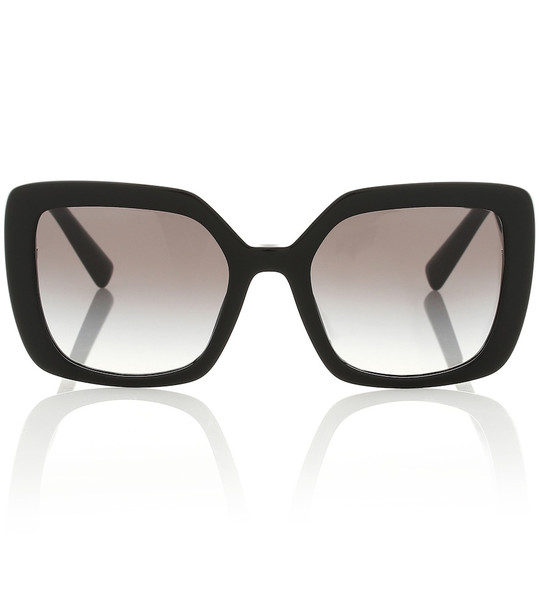 Valentino VLOGO acetate sunglasses in black