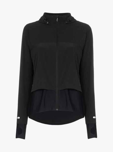 SWEATY BETTY Fast zip-up track jacket in black