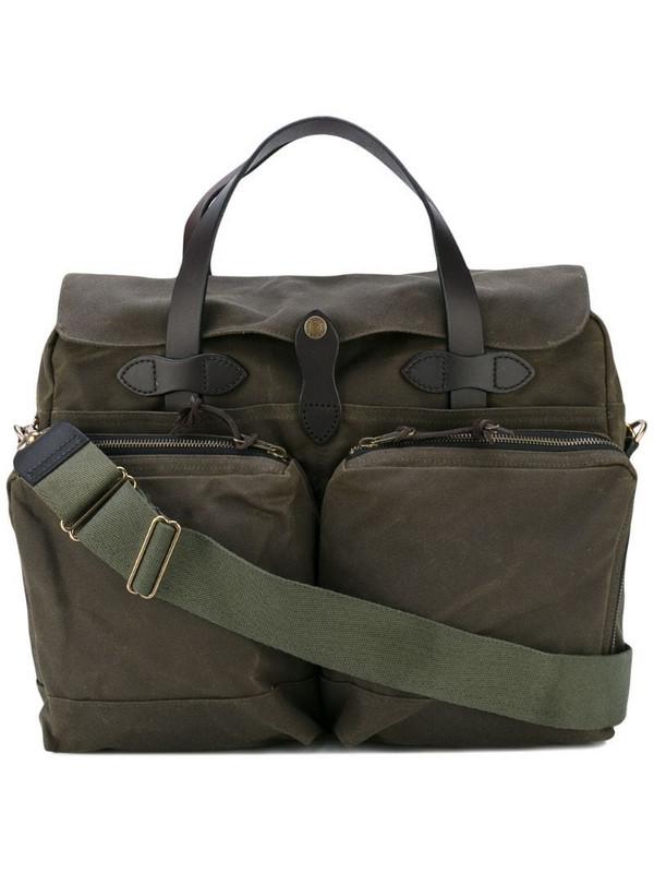 Filson patch pocket laptop bag in green