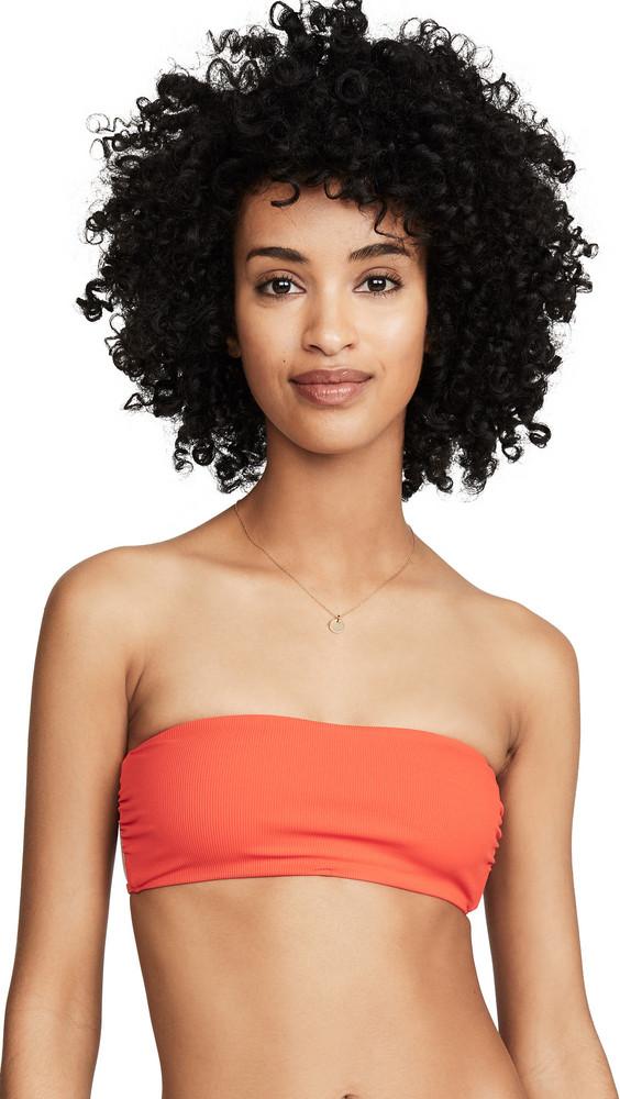 Tori Praver Swimwear Royale Bikini Top in orange