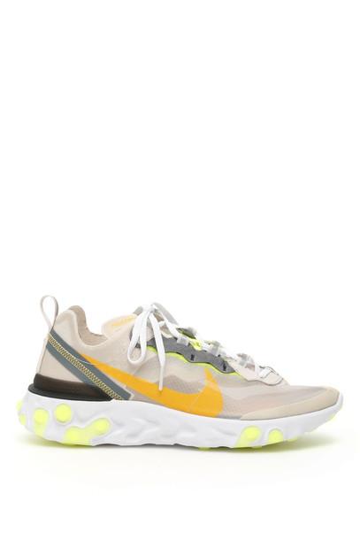 Nike React Element 87 Sneakers in orange