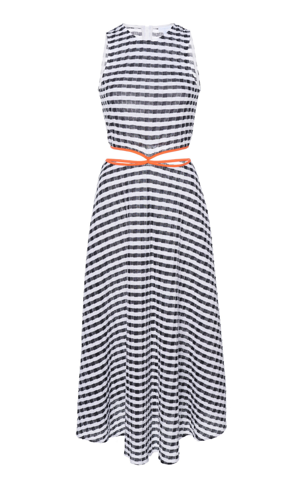 Flagpole James Striped Cotton-Blend Midi Dress in print