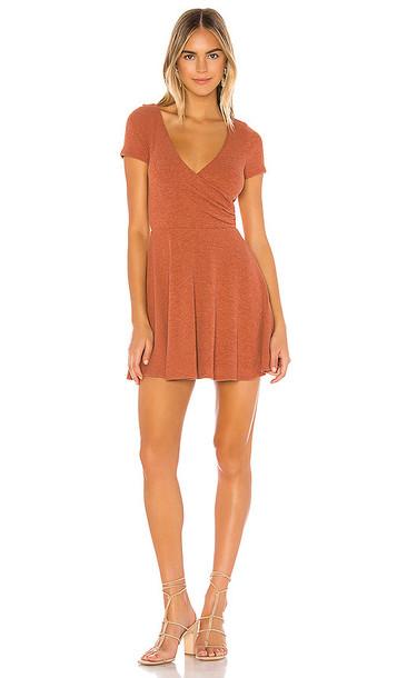 Privacy Please Demi Mini Dress in Burnt Orange