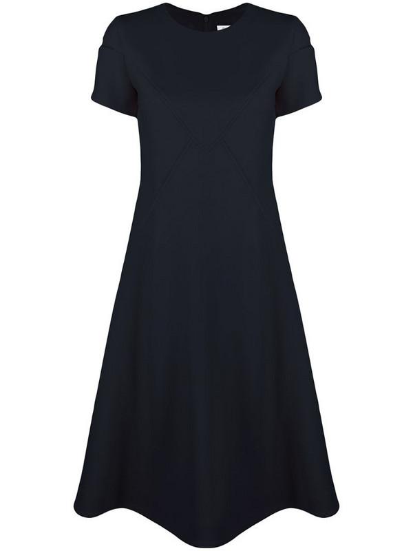 Courrèges short-sleeve midi dress in blue
