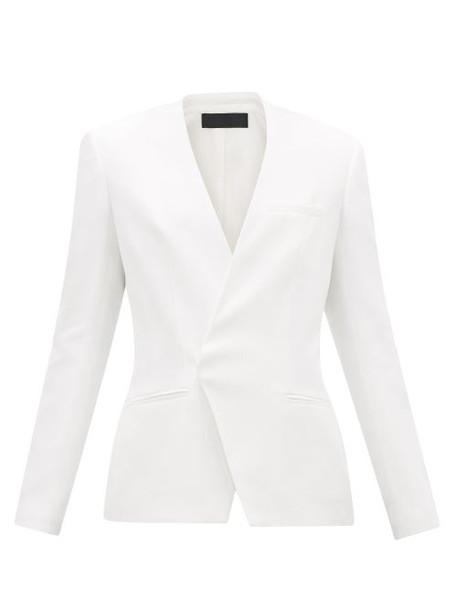 Haider Ackermann - Collarless Single-breasted Twill Blazer - Womens - White