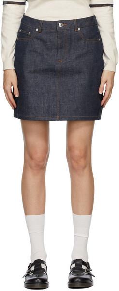 A.P.C. A.P.C. Indigo Denim Standard Miniskirt
