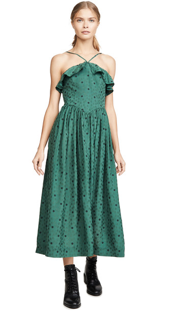 Alexa Chung Halterneck Dress in green