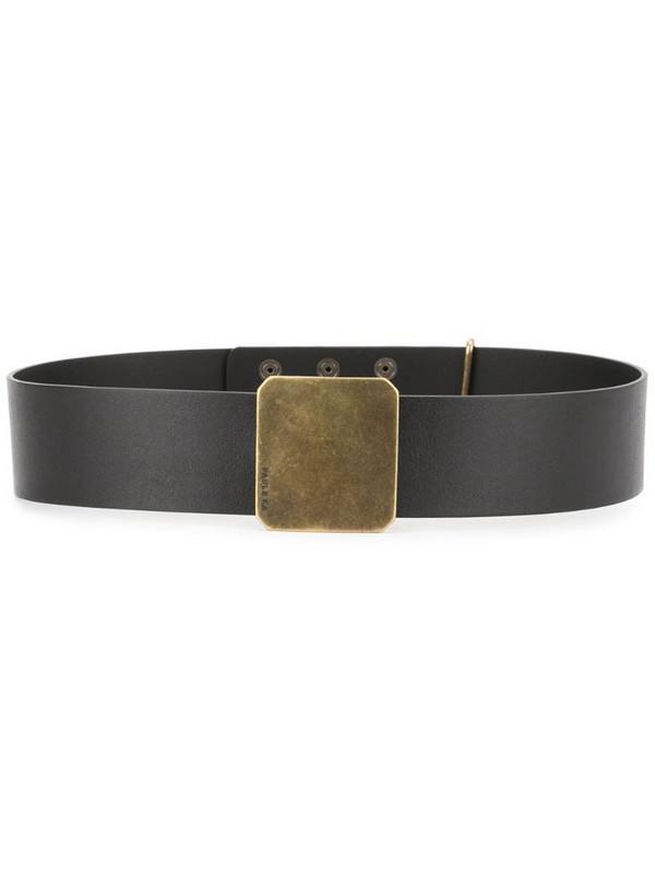 Paule Ka classic buckle belt in black
