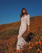 dress,lace dress,lace,rocky barnes,instagram,celebrity,maxi dress,wedding dress