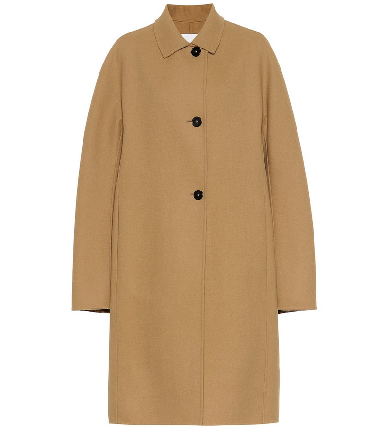 Jil Sander Virgin wool coat in beige