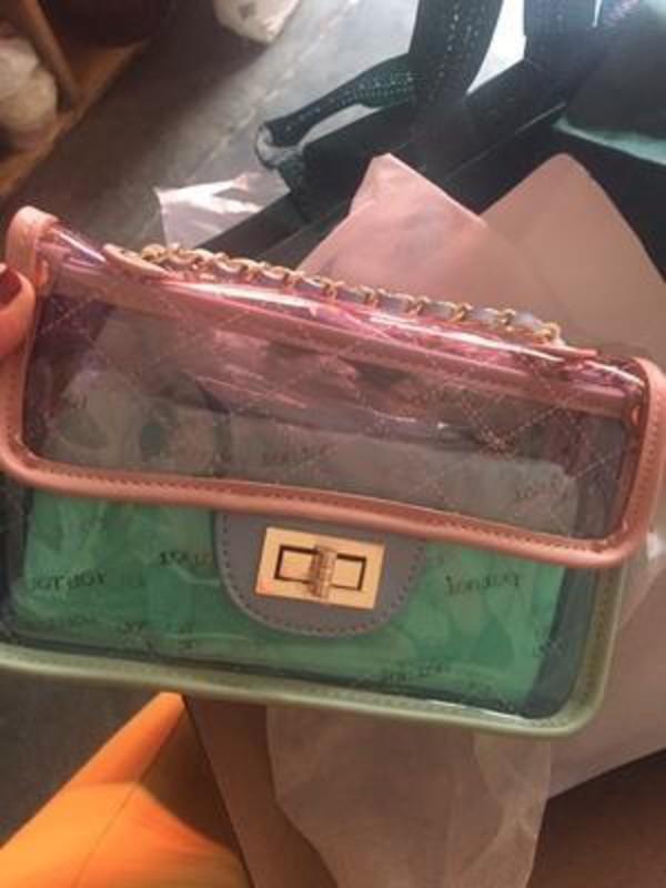 bag transparent  bag pvc purse purse bags and purses pink bag clear where can i get this clear bag clear clutch clear jacket clear shoes clearbag pvc pvc bag crossbody bag