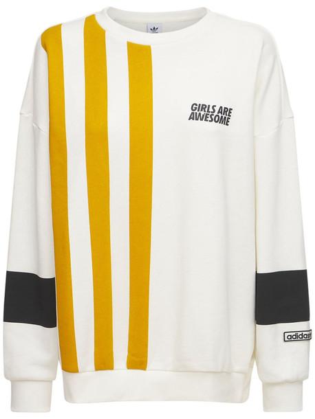 ADIDAS ORIGINALS Cotton Sweatshirt in beige