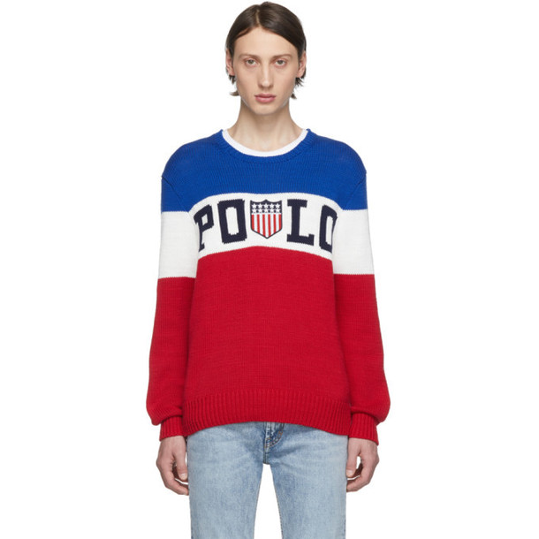 Polo Ralph Lauren Blue & Red Striped Sweater