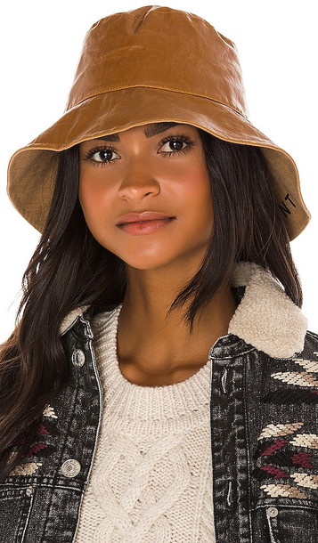 Isabel Marant Loiena Hat in Brown in camel