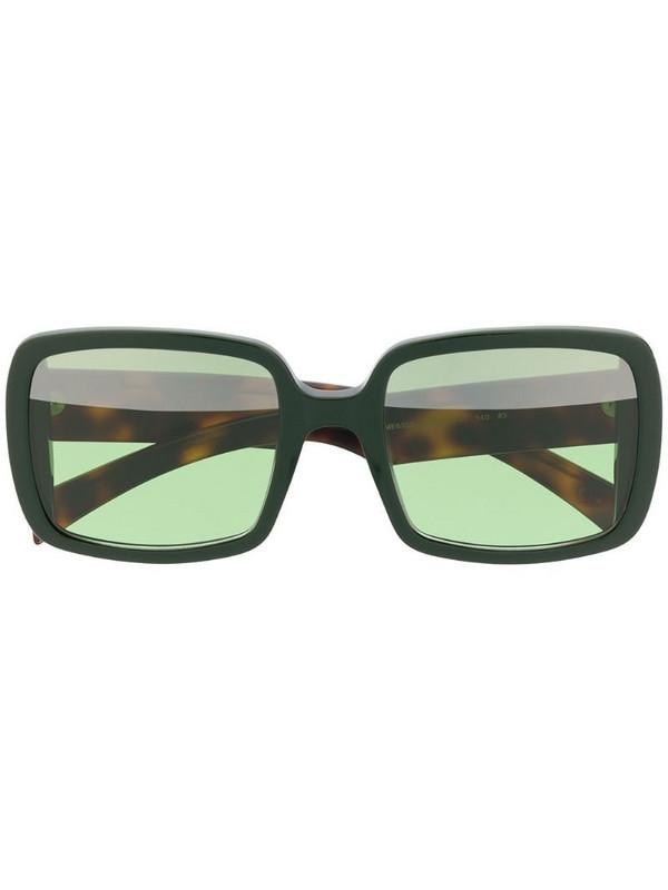Marni Eyewear square frame sunglasses in green