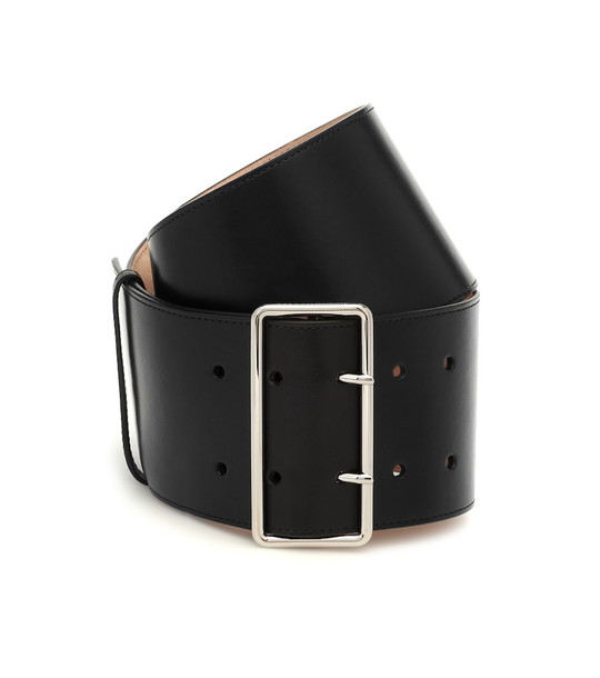 Alexander McQueen Leather belt in black