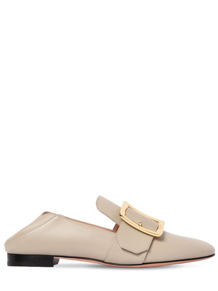 BALLY 10mm Janelle Leather Loafers in taupe