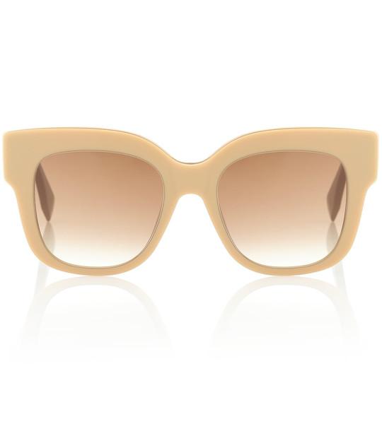 Fendi Square acetate sunglasses in beige