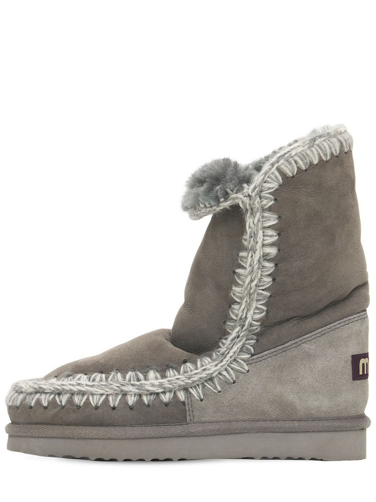 MOU 20mm Eskimo 24 Shearling Boots in grey